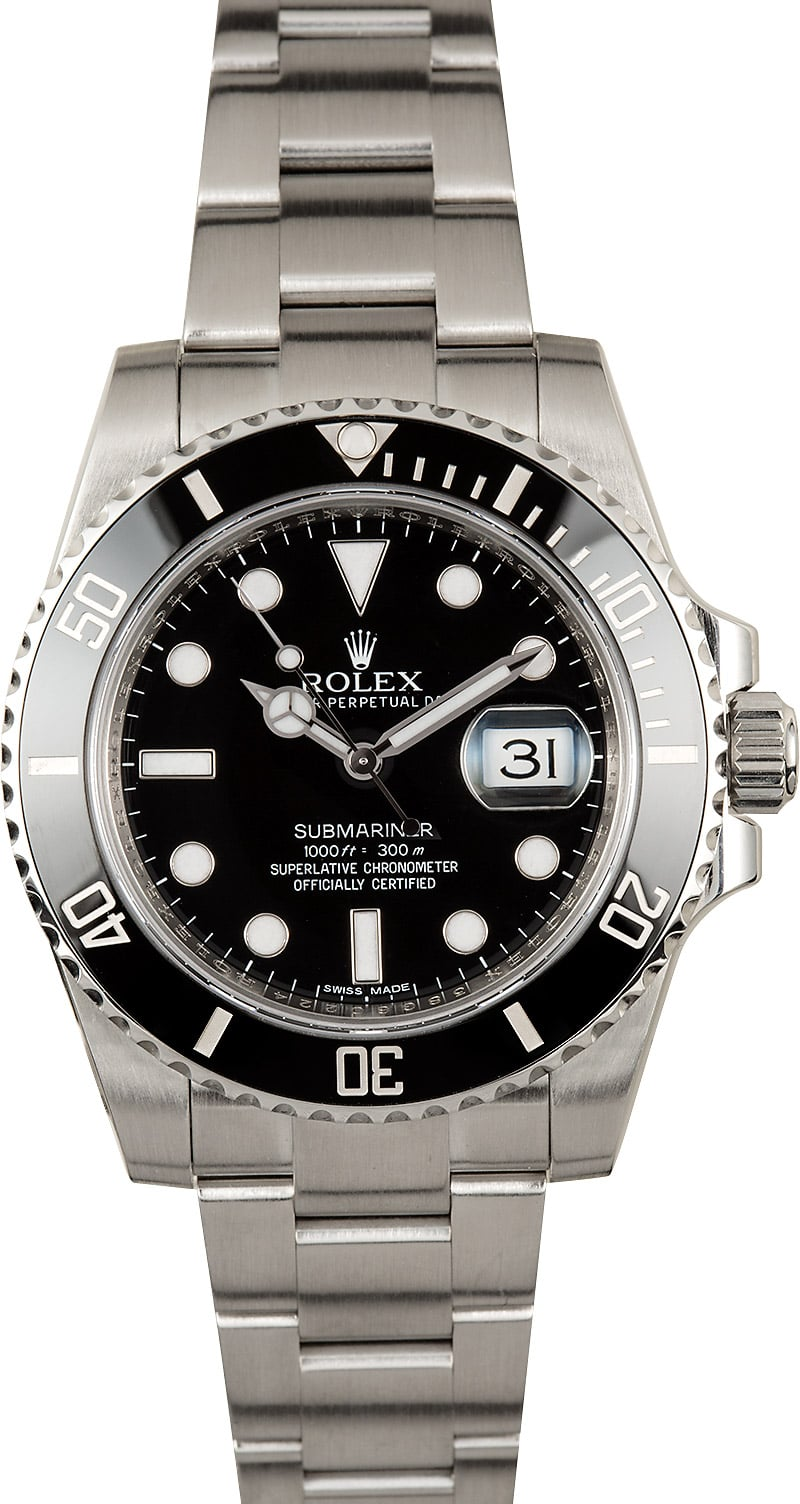rolex submariner 116610 ceramic bezel 100 authentic. Black Bedroom Furniture Sets. Home Design Ideas