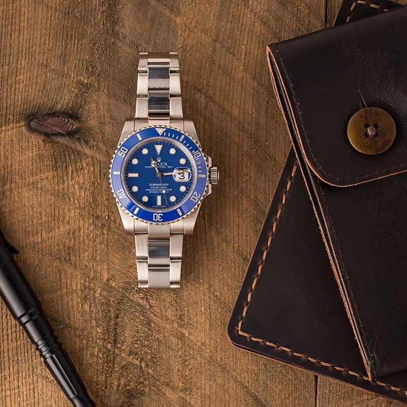 Rolex submariner blue 116619 white gold