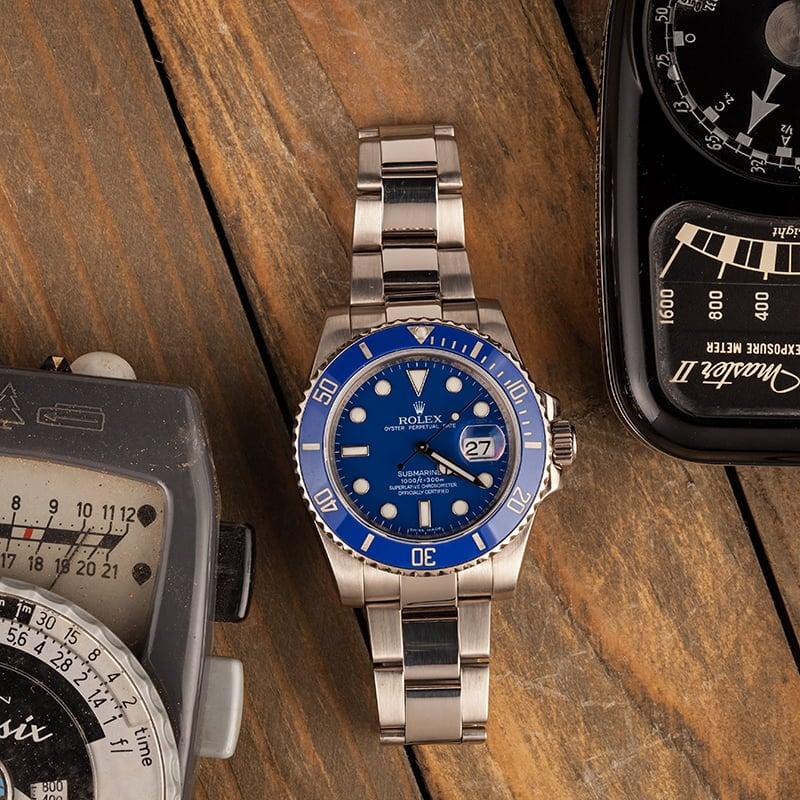 rolex submariner blue smurf 116619