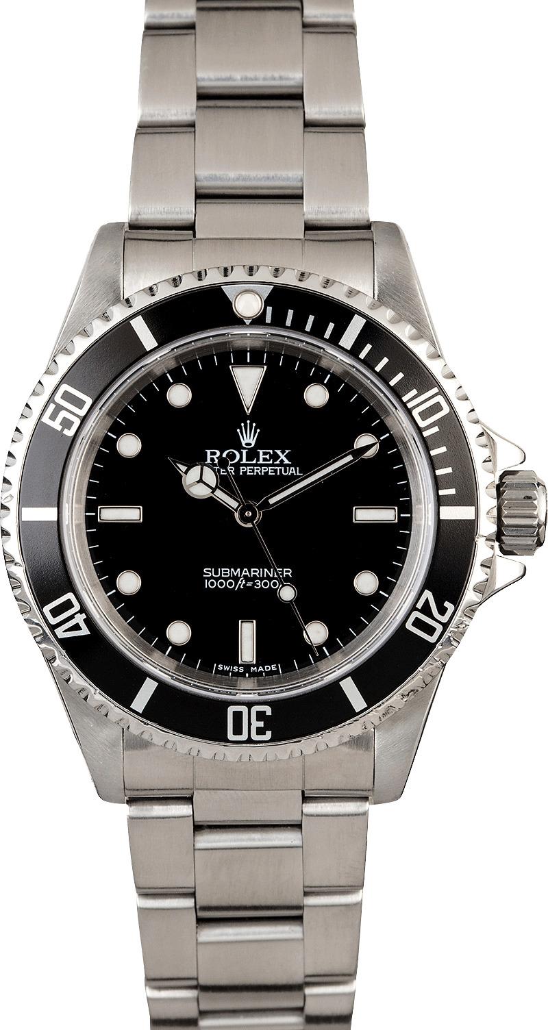 PreOwned Rolex Submariner 14060 Men's Watch