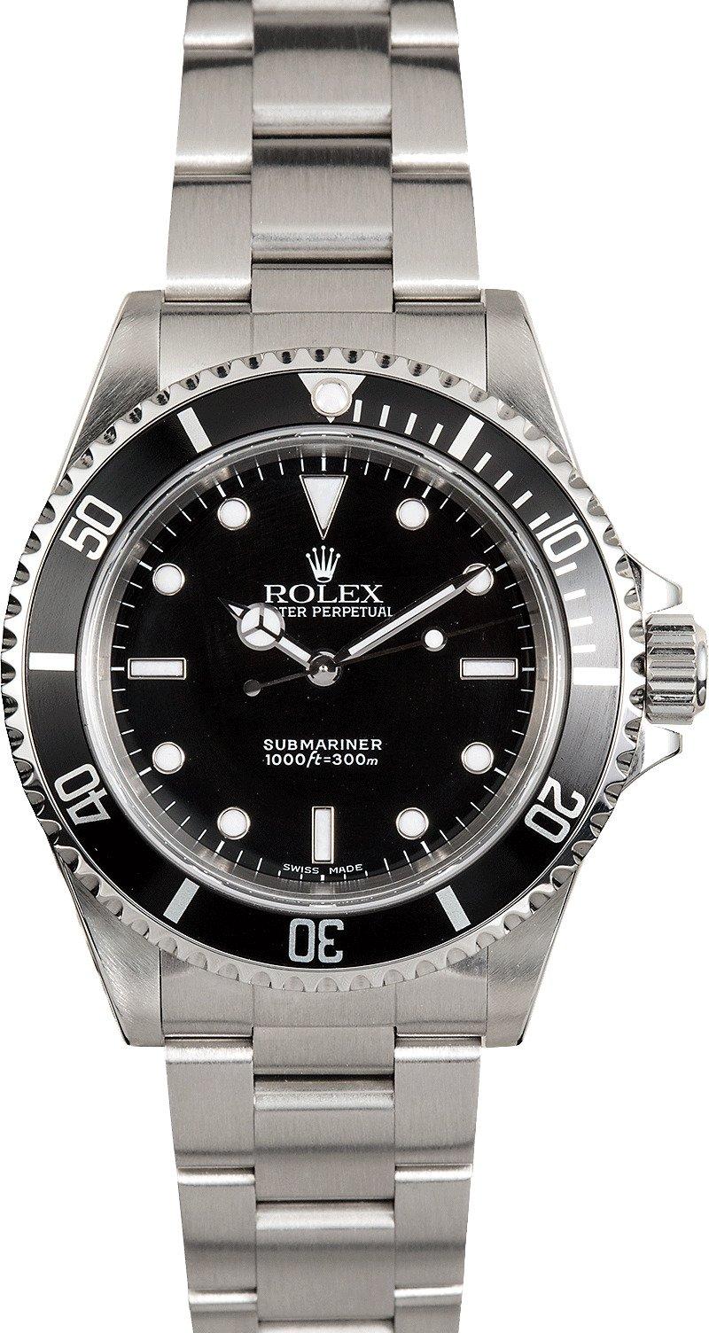 rolex submariner 14060 no date certified pre owned. Black Bedroom Furniture Sets. Home Design Ideas