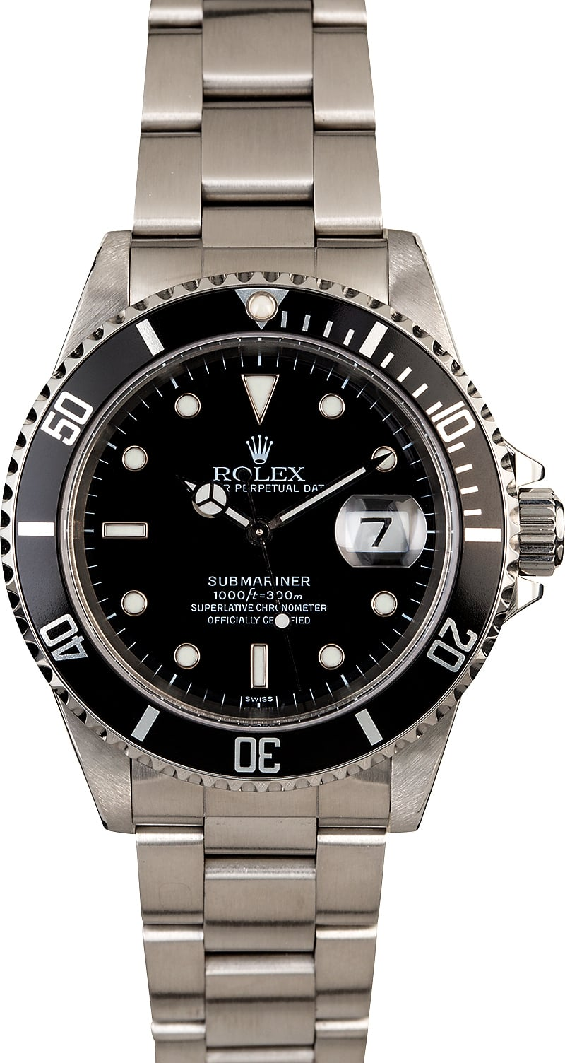 rolex submariner stainless steel 16610 watch. Black Bedroom Furniture Sets. Home Design Ideas