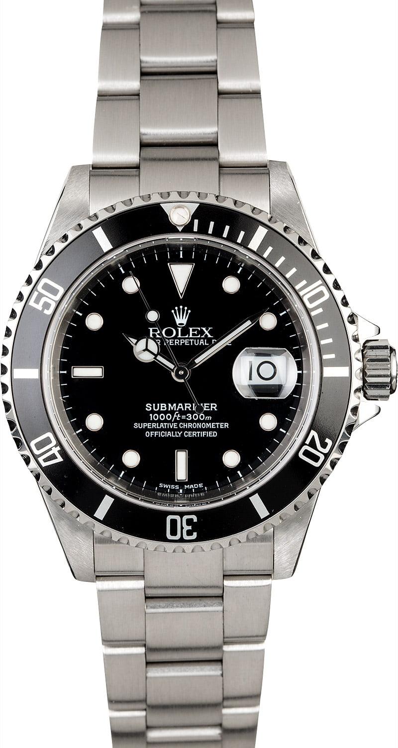 men 39 s rolex submariner 16610 diving watch. Black Bedroom Furniture Sets. Home Design Ideas