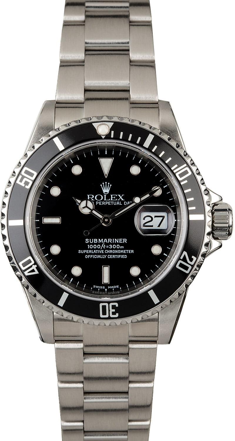 Certified Rolex Submariner Ref 16610