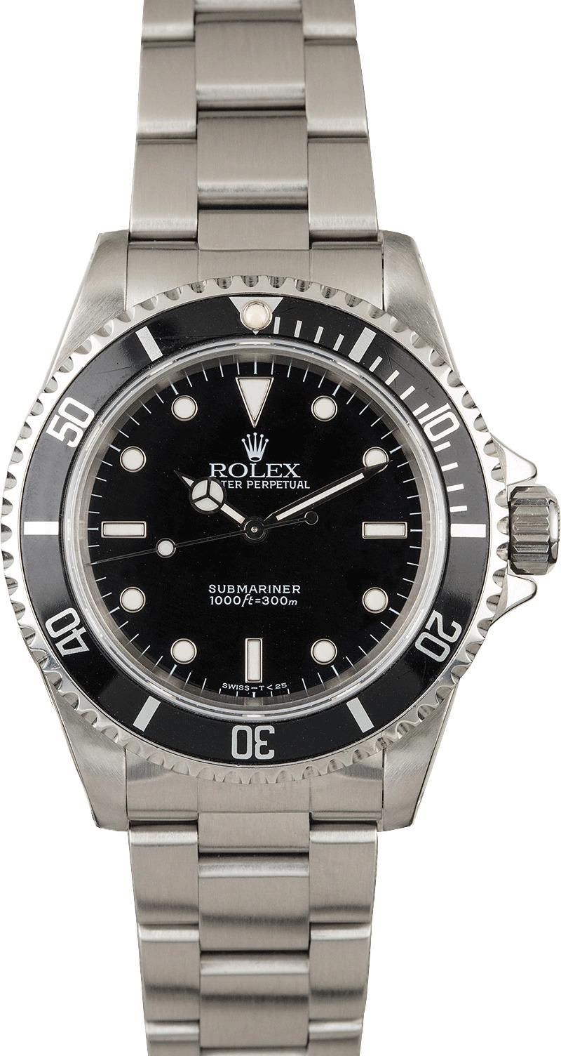 pre owned rolex submariner 14060 dive watch. Black Bedroom Furniture Sets. Home Design Ideas