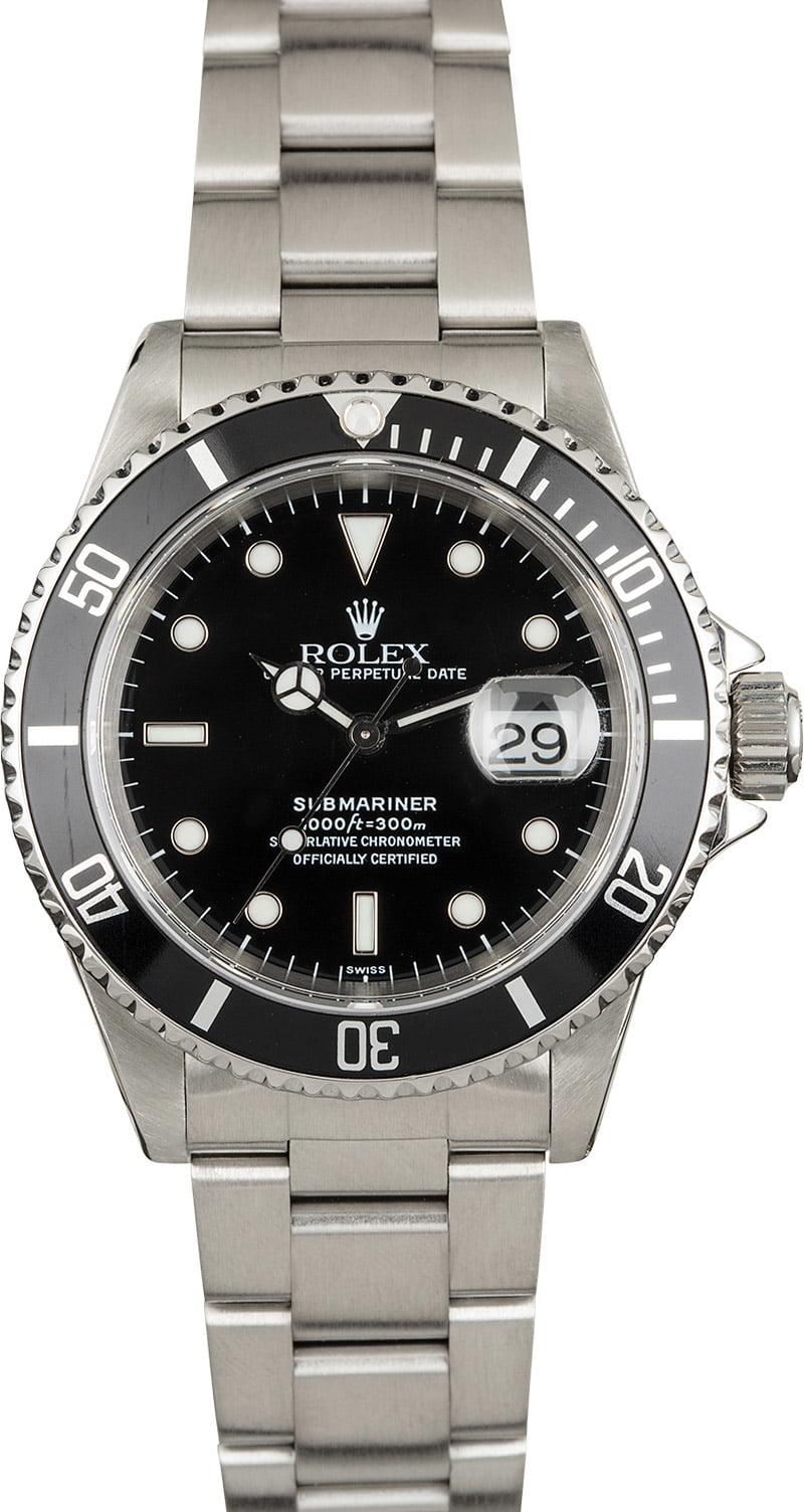 Rolex Submariner 16610 Black Timing Bezel Insert