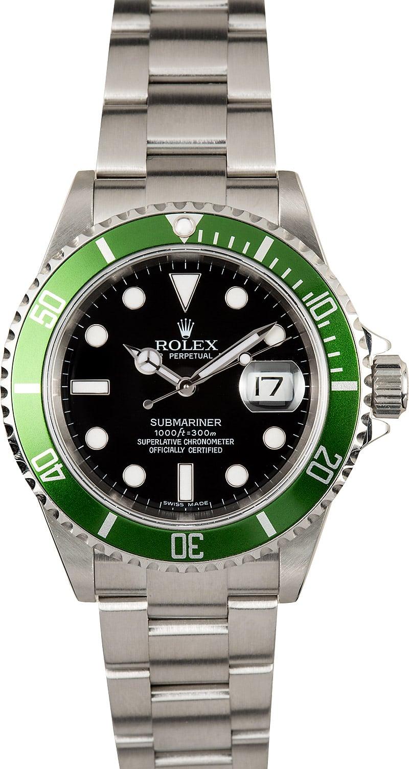 Rolex Submariner 16610V Anniversary Green