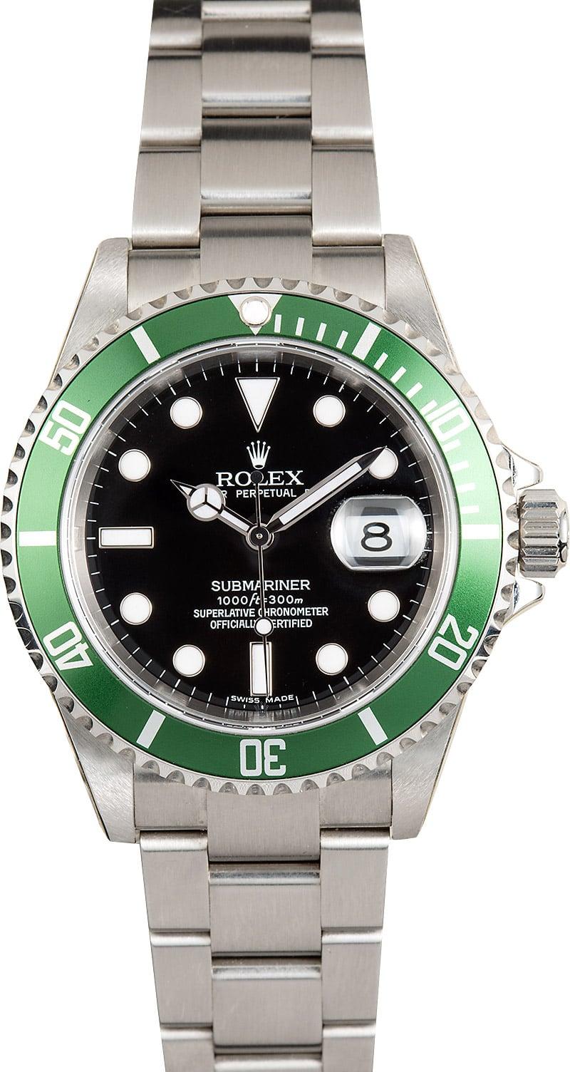 Rolex Submariner 16610V Green Bezel