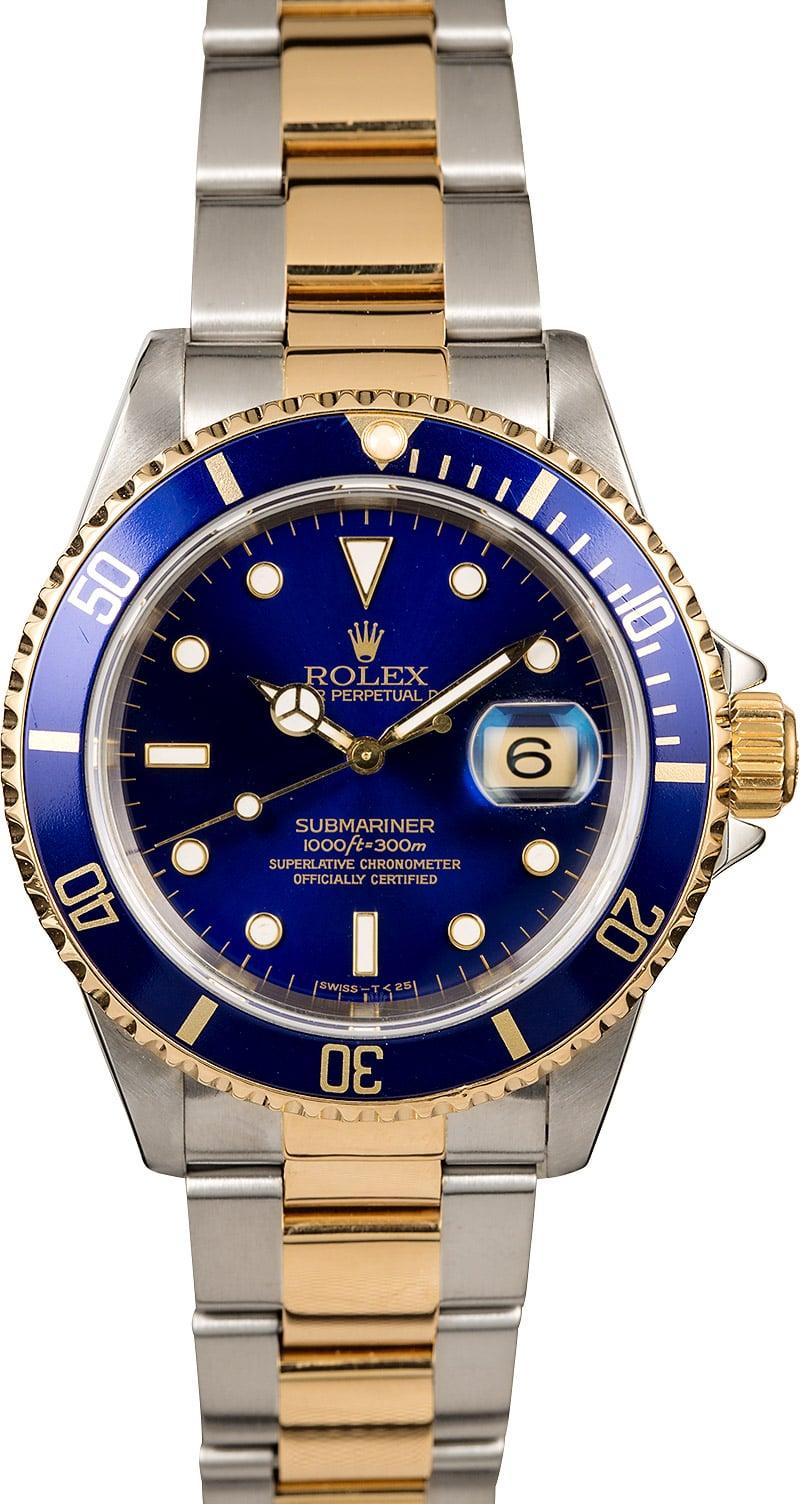 Rolex Submariner 16613 Blue Dial Watch