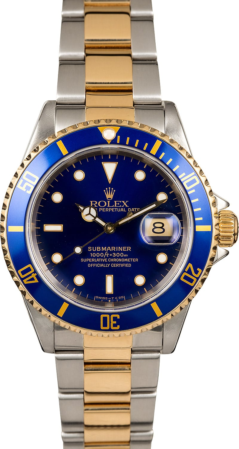 Rolex Submariner 16613 Blue Dial Pre Owned Men U0026 39 S Watch