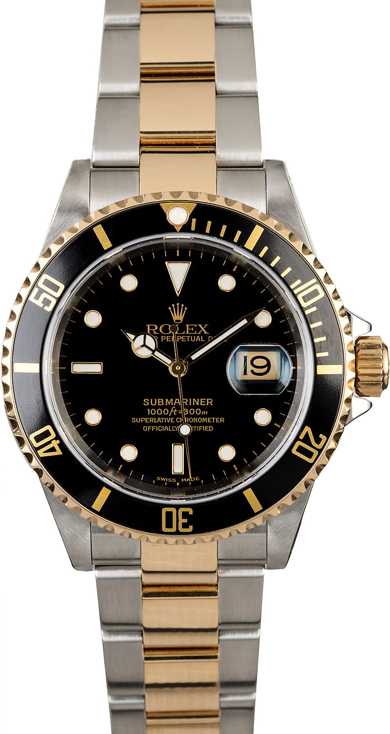 Rolex Submariner 16613 Black Luminescent Dial