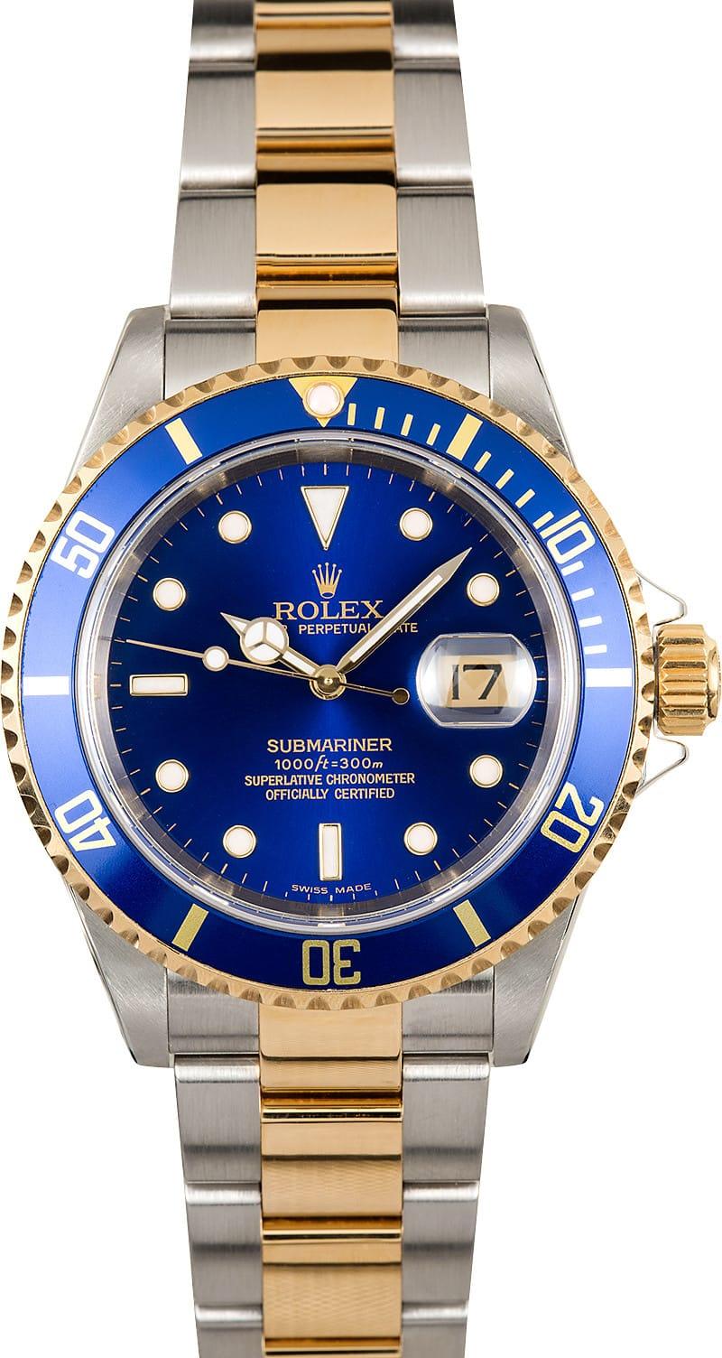 Rolex Submariner 16613T Blue Dial