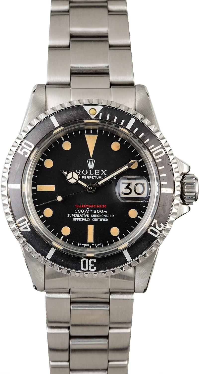 Used Rolex Submariner >> 1970 Vintage Rolex Red Submariner 1680