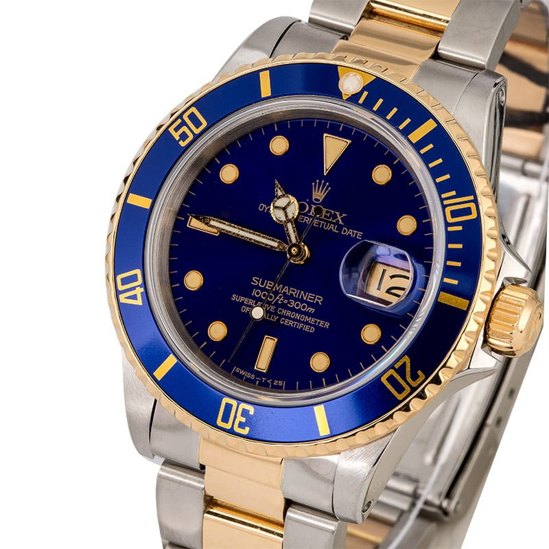 Rolex submariner 16803 blue luminescent dial for Luminescence watches