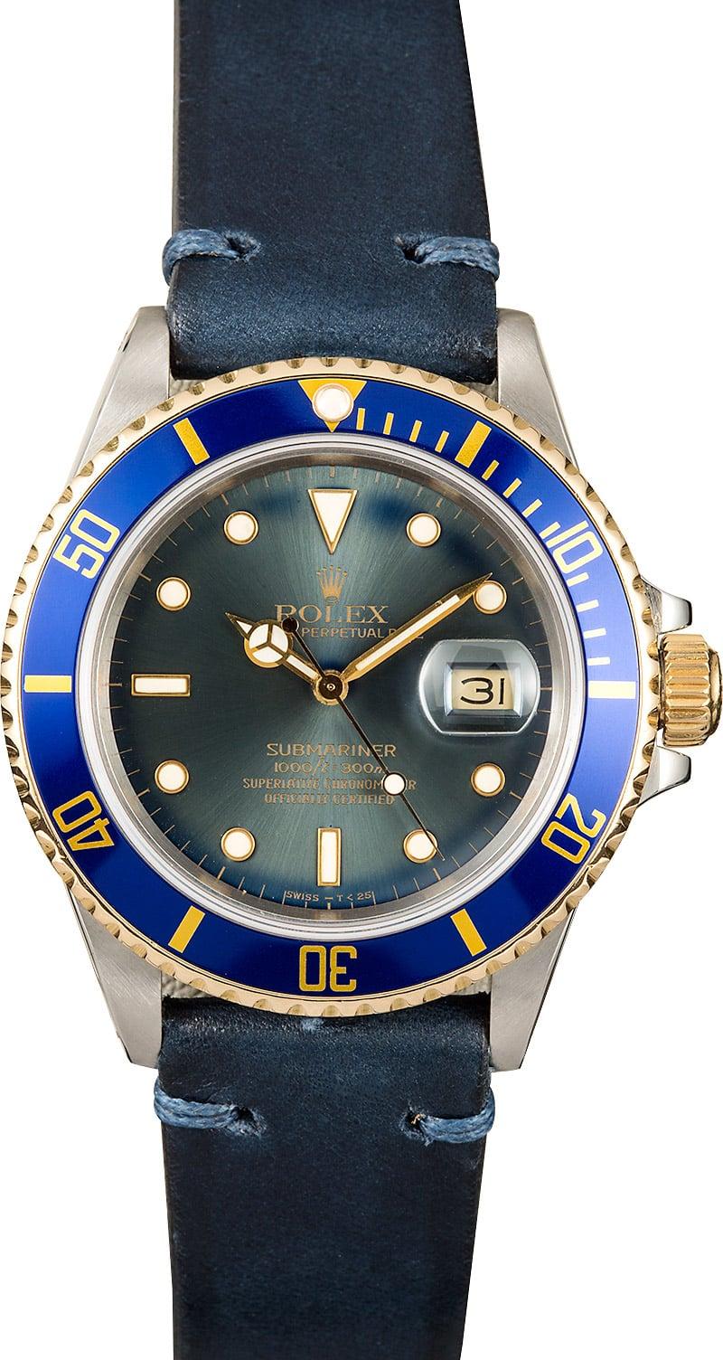 Rolex Submariner 16803 Leather Strap