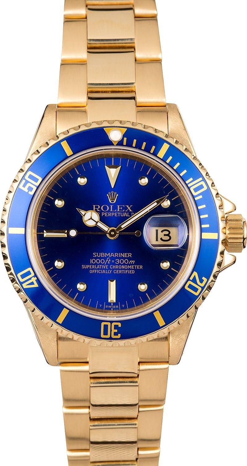 Rolex Submariner 16808 Blue