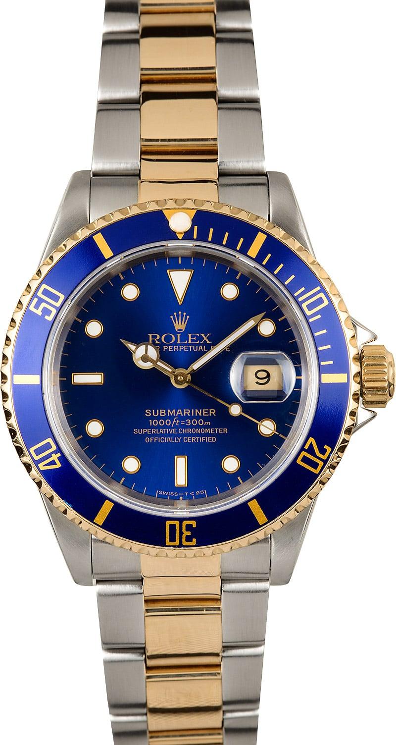 Rolex Submariner Blue Dial 16613 100% Authentic