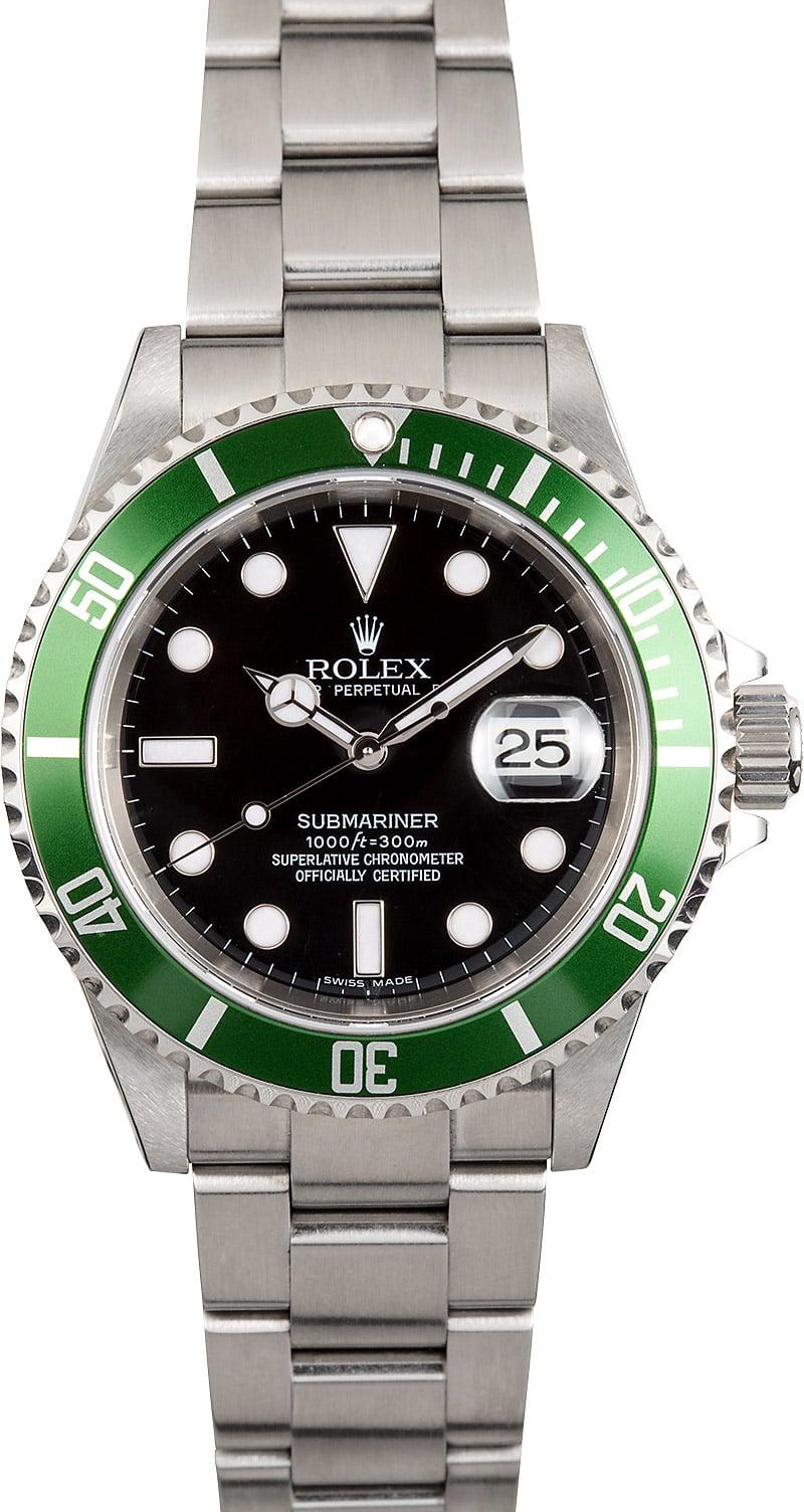 Rolex Submariner Green Anniversary 16610