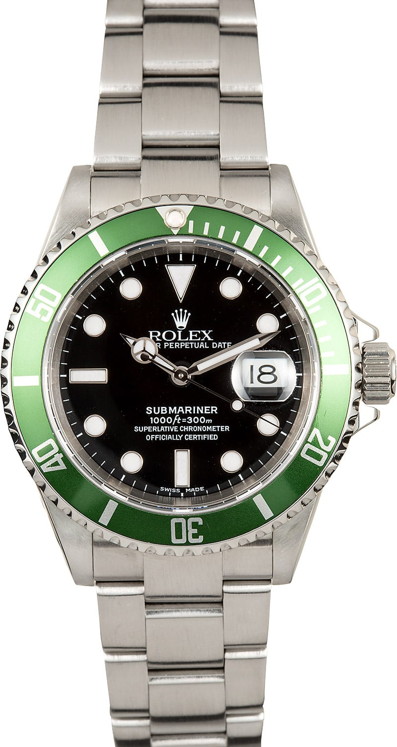 rolex submariner green anniversary 16610lv. Black Bedroom Furniture Sets. Home Design Ideas