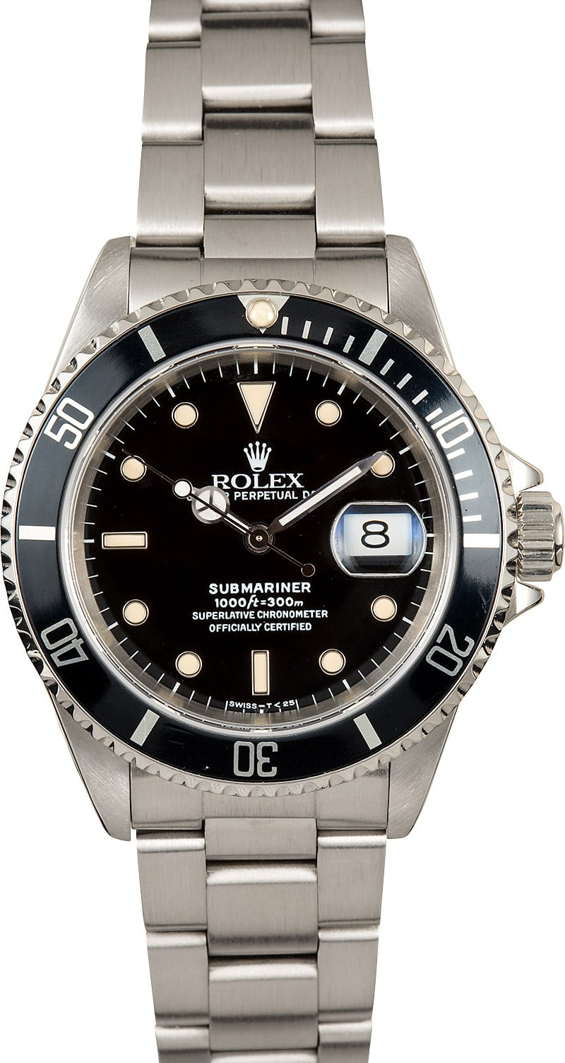 Rolex submariner stainless steel 16610 watch for Submarine watches