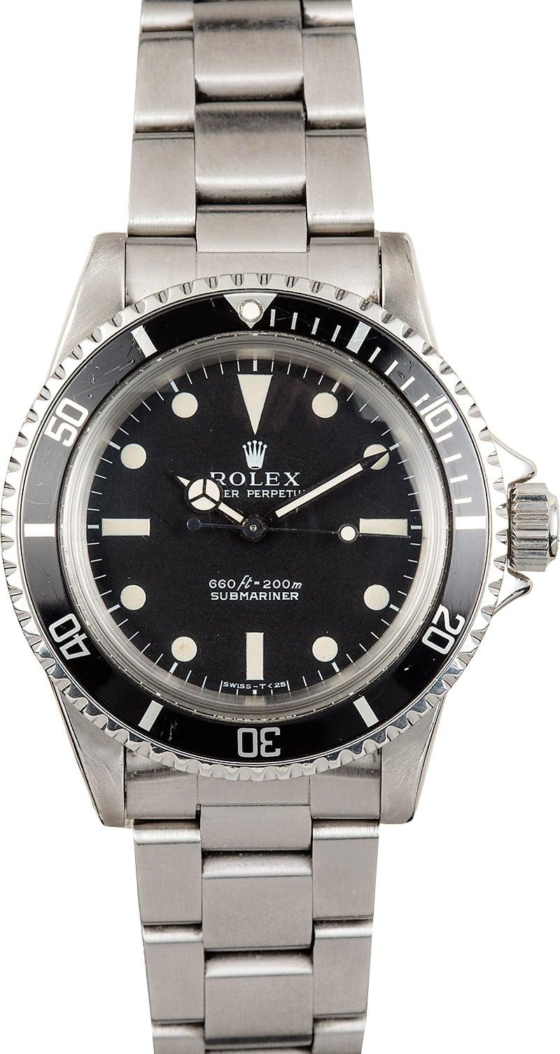 Buy Vintage Rolex Submariner 5513   Bob's Watches - Sku ...  Vintage Rolex Submariner