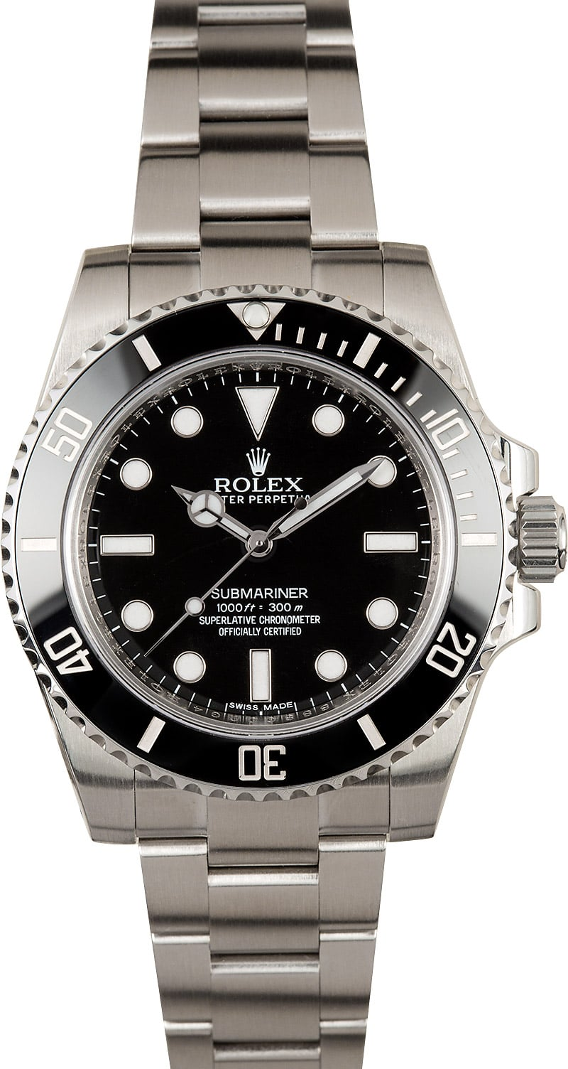 Rolex submariner watch 114060 no date for Submarine watches