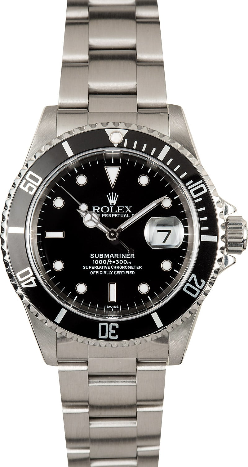 Rolex submariner watch 16610 stainless steel for Submarine watches