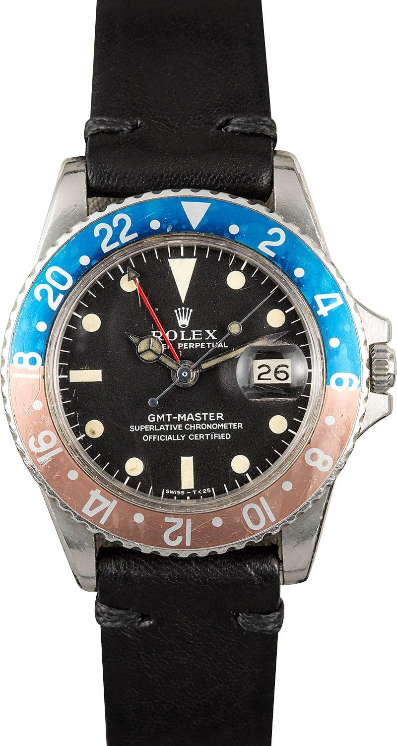 Daytona Rolex Watch >> Rolex Vintage GMT-Master 1675 Pepsi