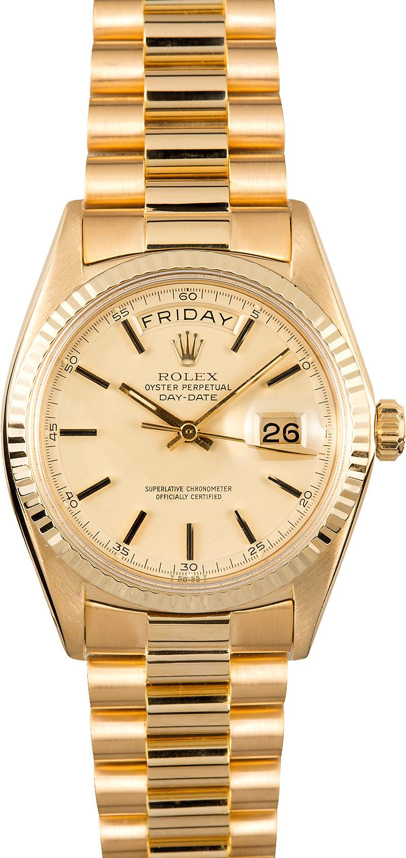 Used Rolex Daytona >> Rolex Vintage President Day-Date 1803