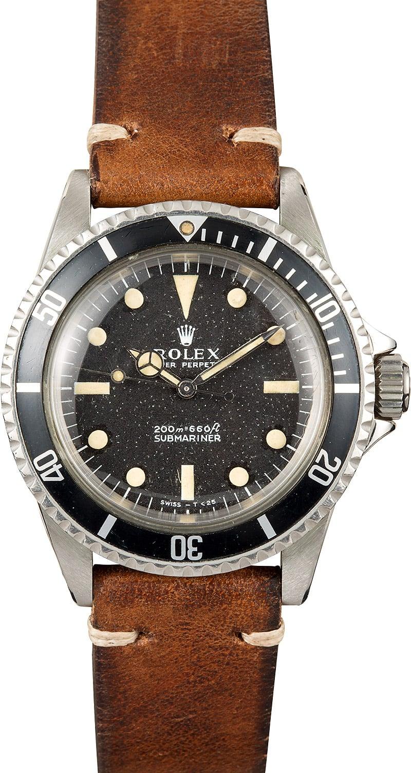 Buy Vintage Rolex Submariner 5512   Bob's Watches - Sku ...  Vintage Rolex Submariner