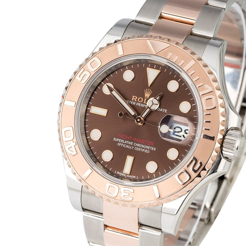 fc28acd20117 Rolex Yacht-Master 116621 Two Tone Everose Oyster