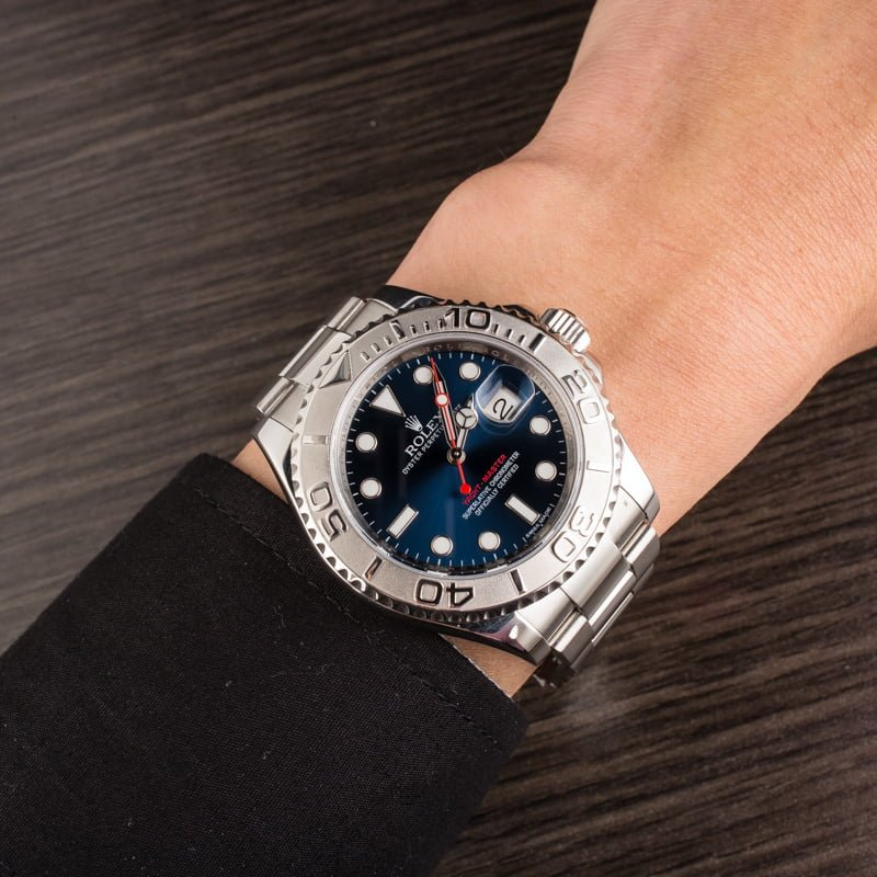 Certified Pre Owned >> Buy Used Rolex Yacht-Master 116622BLSO | Bob's Watches ...