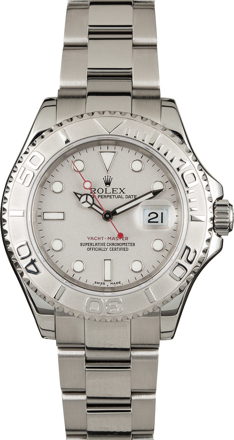 0b57b49c742 PreOwned Rolex Yacht-Master 16622 Stainless Steel and Platinum