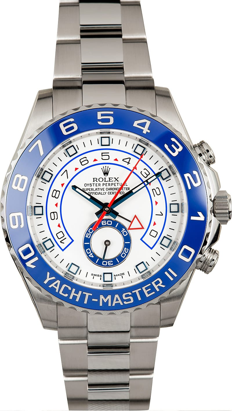rolex yachtmaster ii stainless steel 116680 certified