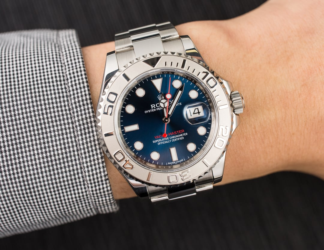 Certified Rolex Yacht Master 116622 Blue Dial