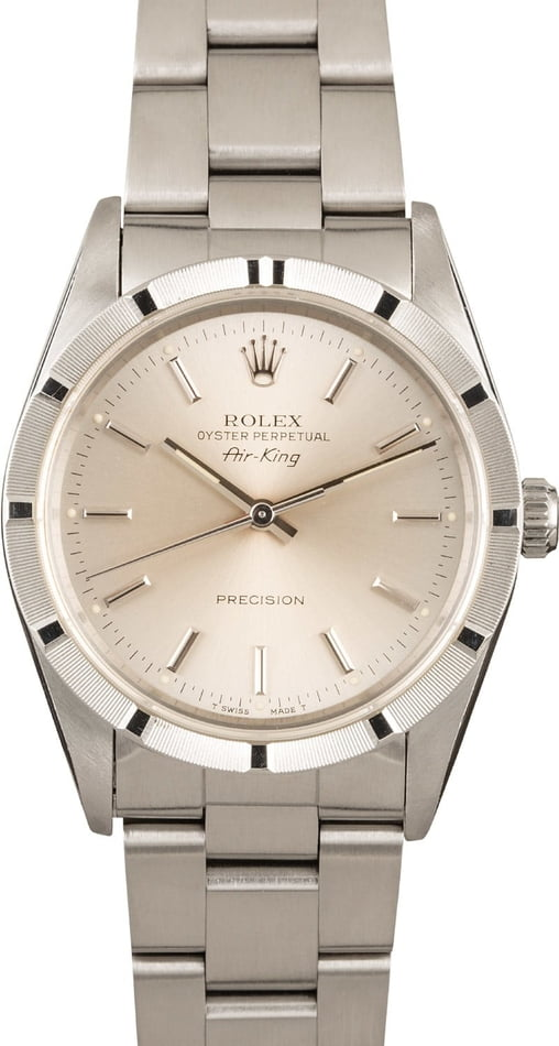 Rolex Air-King 14010 Silver Dial 100% Authentic
