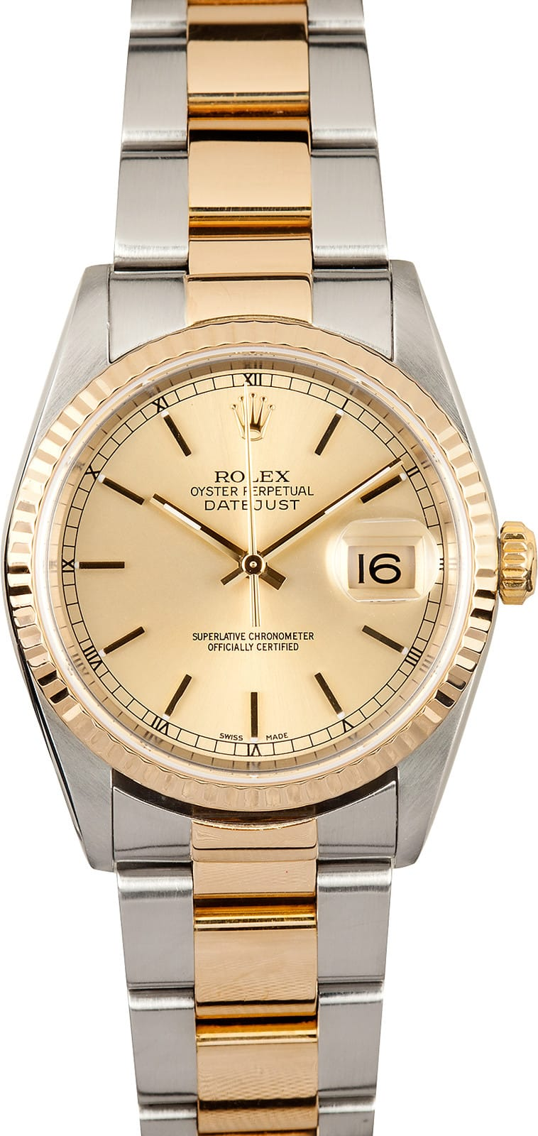 Used Rolex Submariner >> 109246 Mens' Rolex Datejust Oyster 16233 - Save Up To 50%
