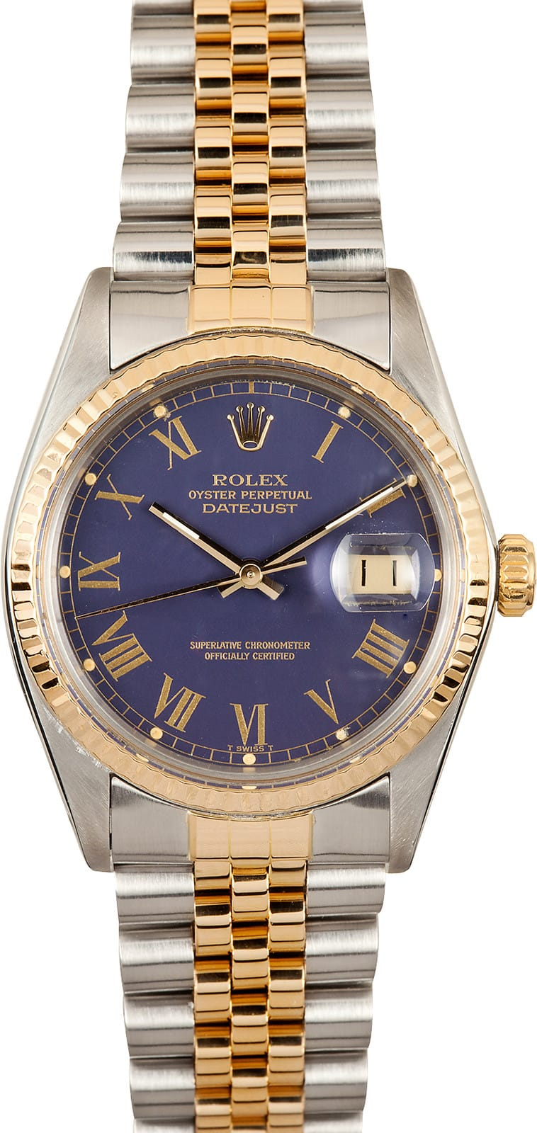 7a031974efa Rolex DateJust 16013 Blue Dial Stainless Steel - Save Instantly!