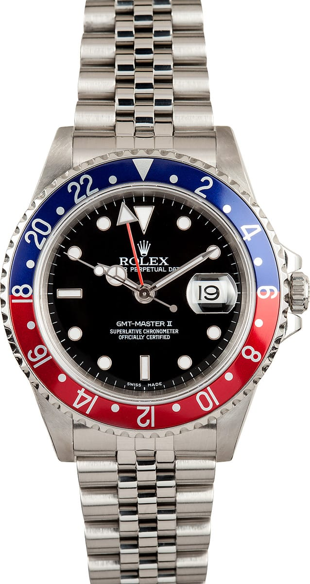 Used Breitling Watches >> Rolex GMT Master II 16710 Jubilee - Buy it at Bob's ...
