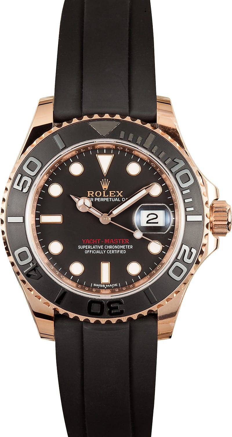 Rolex Yachtmaster Rose Gold 116655 Save On 100