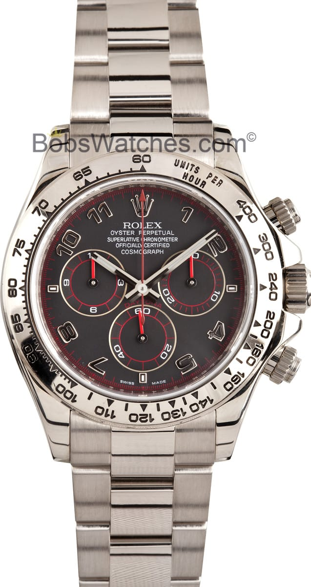 Rolex Daytona Black Cosmograph White Gold 116509 For Sale
