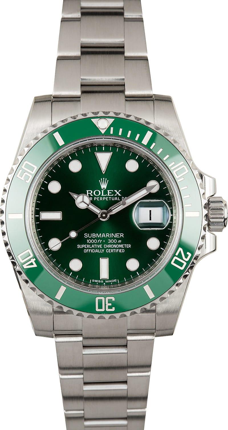 Submariner Rolex 116610V Green Anniversary