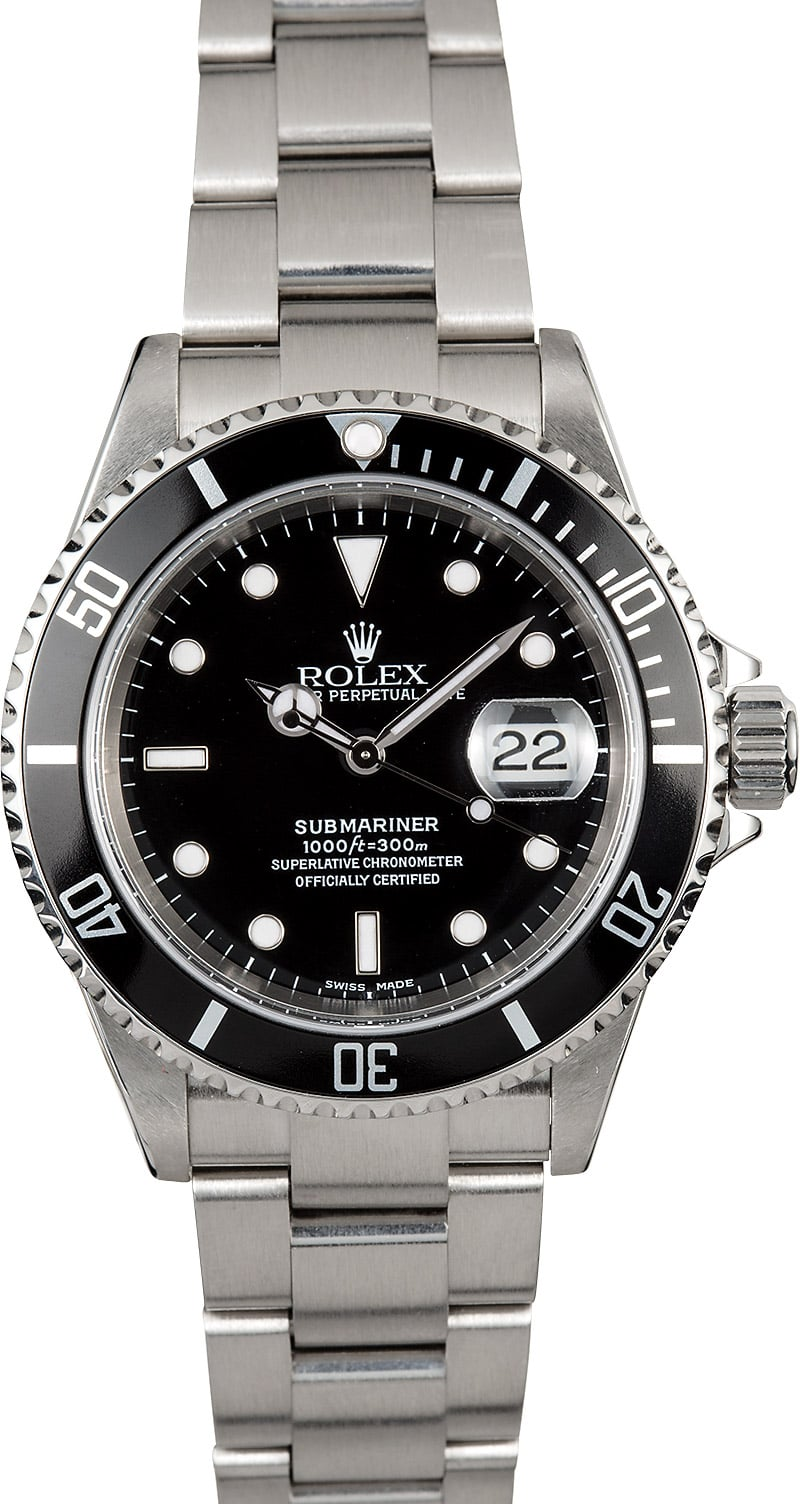 submariner rolex 16610 oyster perpetual men 39 s watch. Black Bedroom Furniture Sets. Home Design Ideas
