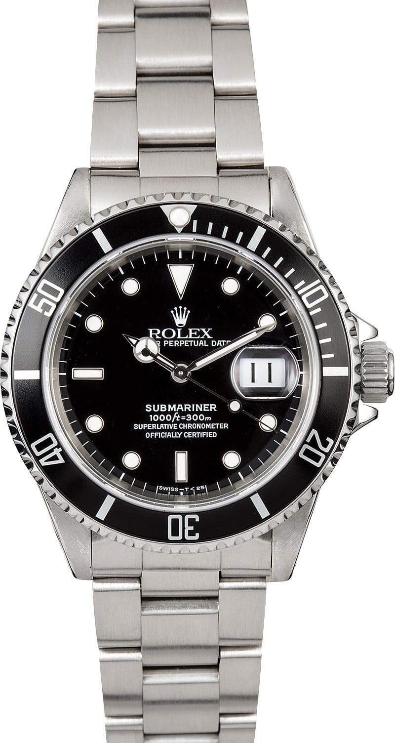 Submariner rolex 16610 oyster perpetual watch for Oyster watches