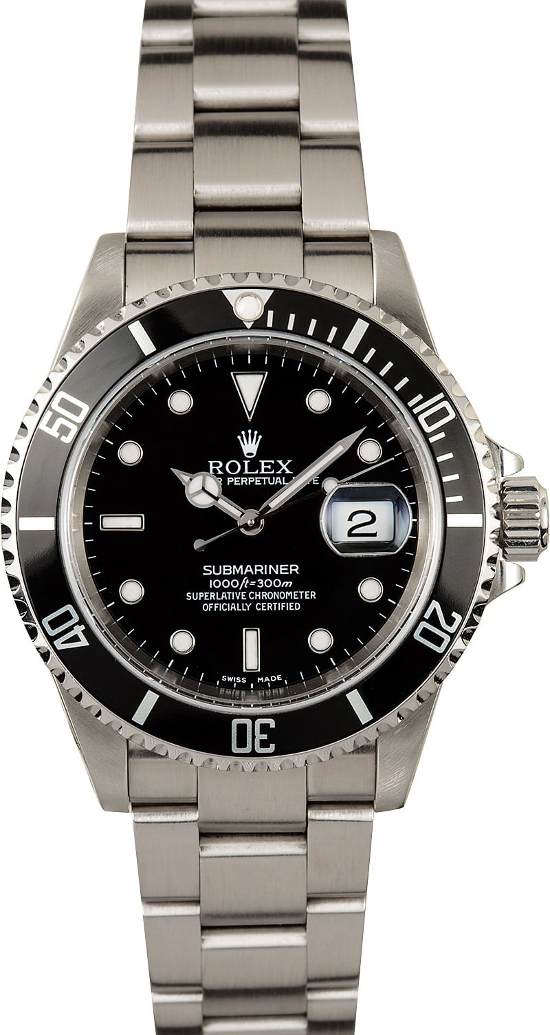submariner rolex 16610 stainless steel 100 authentic. Black Bedroom Furniture Sets. Home Design Ideas