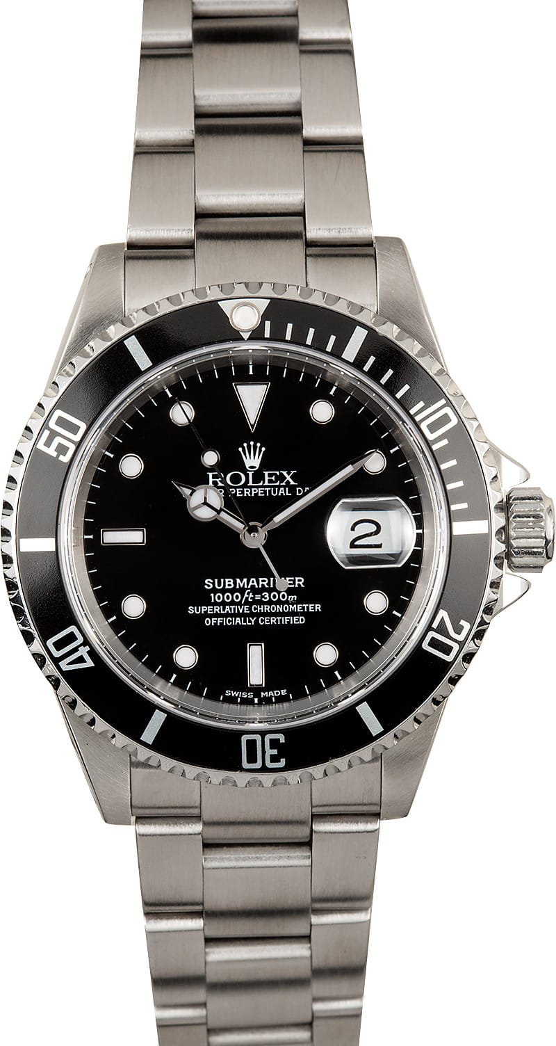 Submariner rolex 16610 stainless steel watch for Stainless steel watch