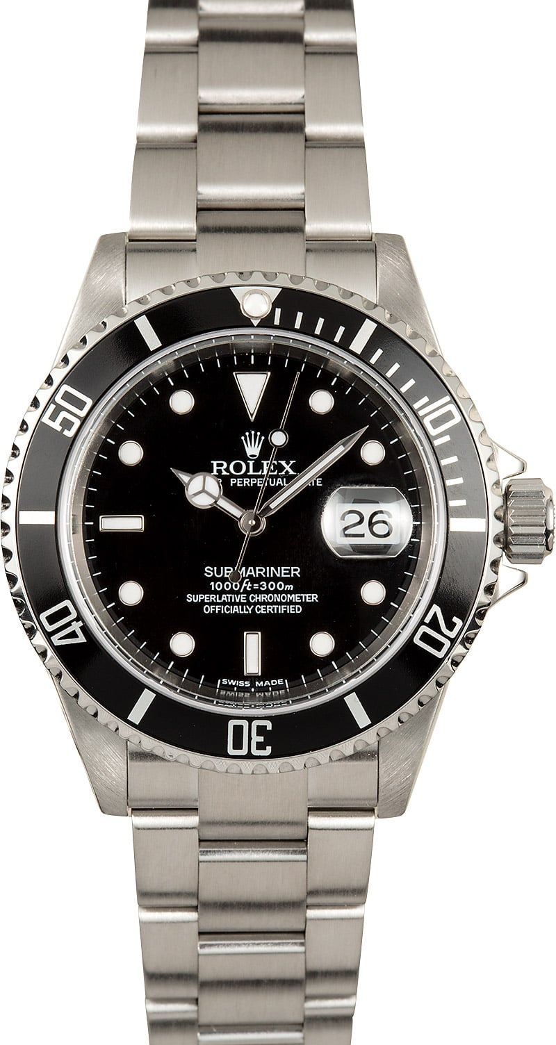 Submariner rolex 16610t stainless steel watch for Submarine watches