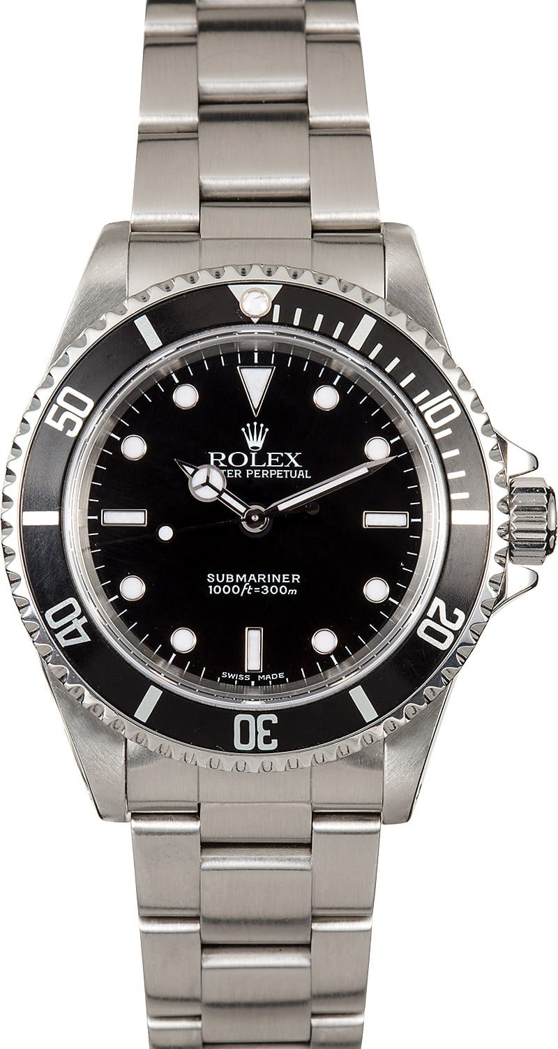 Submariner Rolex No Date 14060 Stainless