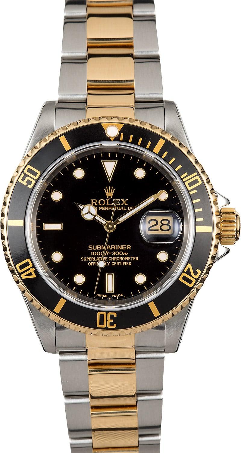 Submariner Rolex Two-Tone 16613