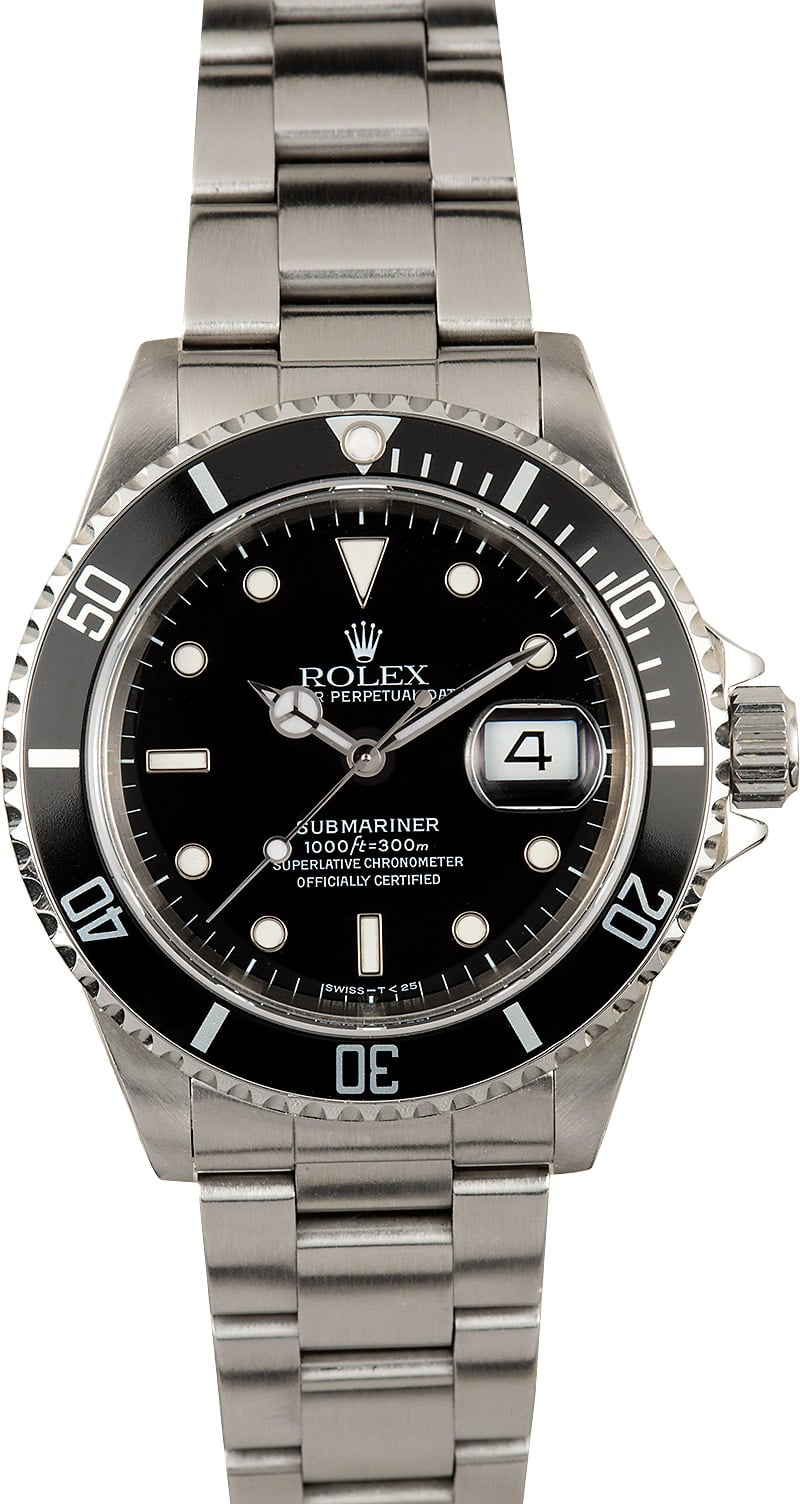 Submariner rolex watch 16610 stainless steel for Submarine watches